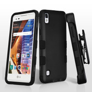 *SALE* Military Grade TUFF Hybrid Armor Case with Holster for LG Tribute HD / X Style - Black