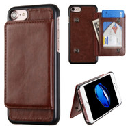 Pocket Wallet Case with Stand for iPhone 8 / 7 - Brown
