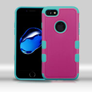 *Sale* Military Grade TUFF Merge Hybrid Armor Case for iPhone 7 - Hot Pink Teal