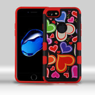 *Sale* Military Grade TUFF Merge Image Hybrid Armor Case for iPhone 7 - Colorful Hearts