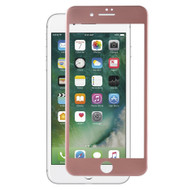 Blue Light UV Filter 3D Curved Soft Edge Tempered Glass Screen Protector for iPhone 7 Plus - Rose Gold