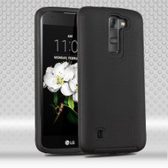 Ezpress Anti-Slip Hybrid Armor Case for LG K7 / K8 / Escape 3 / Treasure LTE / Tribute 5 - Black