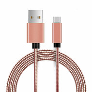 Type-C Charge and Sync USB 3.1 Cable with Interlocking Armor - Rose Gold