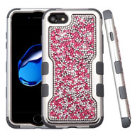 TUFF Vivid Mini Crystals Hybrid Armor Case for iPhone 8 / 7 - Pink