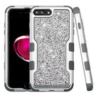 TUFF Vivid Mini Crystals Hybrid Armor Case for iPhone 8 Plus / 7 Plus - Silver