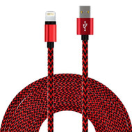 *SALE* Rugged Braided Lightning Connector to USB Charge and Sync Cable - Red