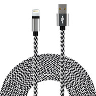 *SALE* Rugged Braided Lightning Connector to USB Charge and Sync Cable - White