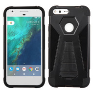 Triangle Multi-Layer Hybrid Kickstand Case for Google Pixel XL - Black