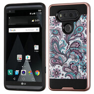 Brushed Graphic Hybrid Armor Case for LG V20 - Persian Paisley