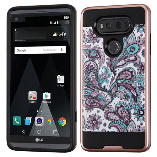 brushed graphic hybrid armor case for lg v20 persian paisley hd accessory. Black Bedroom Furniture Sets. Home Design Ideas