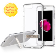 Sidekik Transparent Crystal Case with Kickstand for iPhone 8 Plus / 7 Plus / 6S Plus / 6 Plus - Clear