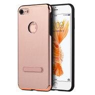 *Sale* Slim Aluminum Armor Fusion Case with Kickstand for iPhone 8 / 7 - Rose Gold