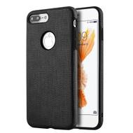 Leatherette TPU Fusion Case for iPhone 8 Plus / 7 Plus - Black