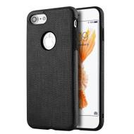 *Sale* Leatherette TPU Fusion Case for iPhone 8 / 7 - Black