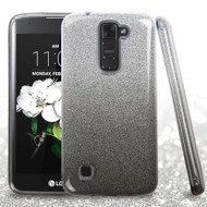 Full Glitter Hybrid Protective Case for LG K7 / K8 / Escape 3 / Treasure LTE / Tribute 5 - Gradient Black