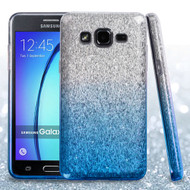 Full Glitter Hybrid Protective Case for Samsung Galaxy On5 - Gradient Blue