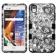 *Sale* Military Grade TUFF Image Hybrid Armor Case for LG Tribute HD / X Style - Leaf Clover Black