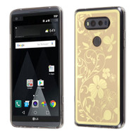 Phoenix Tail Flowers Premium Electroplating  TPU Case for LG V20 - Gold