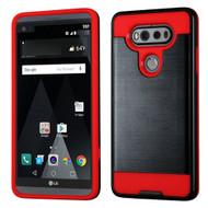 Brushed Hybrid Armor Case for LG V20 - Black Red
