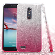 Full Glitter Hybrid Protective Case for ZTE Zmax Pro - Gradient Pink