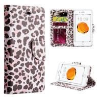 *SALE* Executive Graphic Leather Wallet Case for iPhone 8 Plus / 7 Plus - Lady Leopard