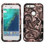Military Grade Certified TUFF Image Hybrid Armor Case for Google Pixel - Phoenix Flower Rose Gold