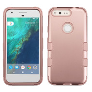 Military Grade Certified TUFF Hybrid Armor Case for Google Pixel - Rose Gold