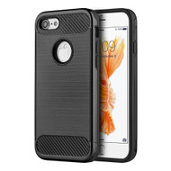 *Sale* Carbon Tech Brushed Multi-Layer Hybrid Armor Case for iPhone 7 - Black