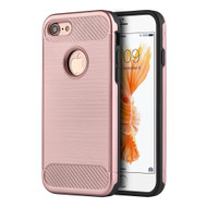 *Sale* Carbon Tech Brushed Multi-Layer Hybrid Armor Case for iPhone 7 - Rose Gold