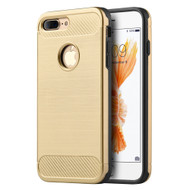 *Sale* Carbon Tech Brushed Multi-Layer Hybrid Armor Case for iPhone 8 Plus / 7 Plus - Gold
