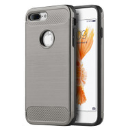 *SALE* Carbon Tech Brushed Multi-Layer Hybrid Armor Case for iPhone 7 Plus - Grey