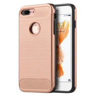 *Sale* Carbon Tech Brushed Multi-Layer Hybrid Armor Case for iPhone 7 Plus - Rose Gold