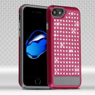 Luxury Bling Diamond Hybrid Case for iPhone 7 - Hot Pink