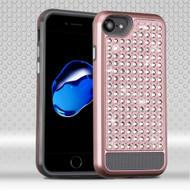 Luxury Bling Diamond Hybrid Case for iPhone 7 - Rose Gold