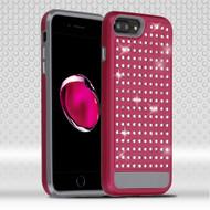 Luxury Bling Diamond Hybrid Case for iPhone 7 Plus - Hot Pink