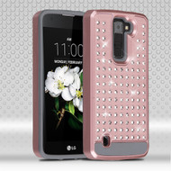 Luxury Bling Diamond Hybrid Case for LG K7 / K8 / Escape 3 / Treasure LTE / Tribute 5 - Rose Gold