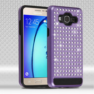Luxury Bling Diamond Hybrid Case for Samsung Galaxy On5 - Purple