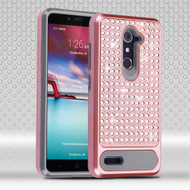 Luxury Bling Diamond Hybrid Case for ZTE Zmax Pro / Grand X Max 2 / Imperial Max / Max Duo 4G - Rose Gold