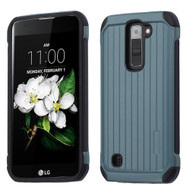 Suitcase Design Hybrid Protector Cover for LG K7 / Escape 3 / Treasure LTE / Tribute 5 - Slate Blue