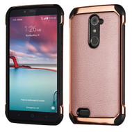 Electroplated Tough Anti-Shock Hybrid Case for ZTE Zmax Pro / Grand X Max 2 / Imperial Max / Max Duo 4G - Rose Gold