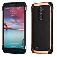 Electroplated Tough Anti-Shock Hybrid Case for ZTE Zmax Pro / Grand X Max 2 / Imperial Max / Max Duo 4G - Black