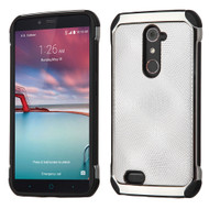 *SALE* Chrome Tough Anti-Shock Hybrid Case for ZTE Zmax Pro / Grand X Max 2 / Imperial Max / Max Duo 4G - Silver