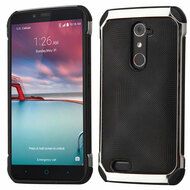 Chrome Tough Anti-Shock Hybrid Case for ZTE Zmax Pro / Grand X Max 2 / Imperial Max / Max Duo 4G - Black