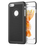 Perforated Ultra Slim Protective Shell Case for iPhone 8 / 7 - Black