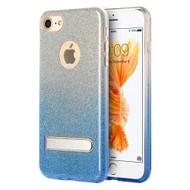 *Sale* Full Glitter Hybrid Protective Case with Kickstand for iPhone 7 - Gradient Blue