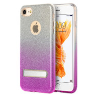 *Sale* Full Glitter Hybrid Protective Case with Kickstand for iPhone 7 - Gradient Purple