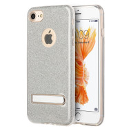 *Sale* Full Glitter Hybrid Protective Case with Kickstand for iPhone 7 - Silver