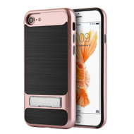 *Sale* SilkTech Bumper Frame Hybrid Case with Kickstand for iPhone 7 - Rose Gold