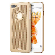 Perforated Ultra Slim Protective Shell Case for iPhone 7 Plus - Gold