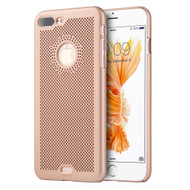Perforated Ultra Slim Protective Shell Case for iPhone 7 Plus - Rose Gold
